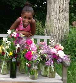 Tanique, she a natural flower arranger