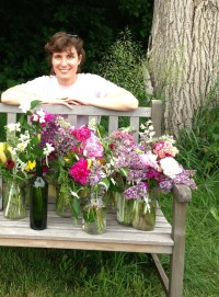 Laura and the lovely flower bouquets