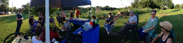 Panorama of the Gardening for Good gang