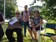 Phyllis translating Karina's Gardenstory