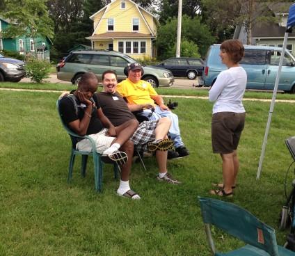JoJo, Todd, Steve, and Sue chit-chattin'