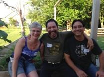 Rebecca, Andy, and John