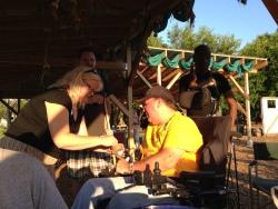 Carol and Steve enjoying the pico de gallo