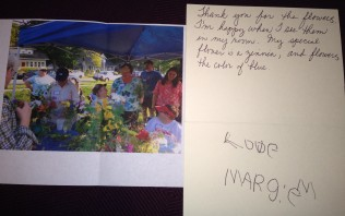 Thank you to Mary from Marge
