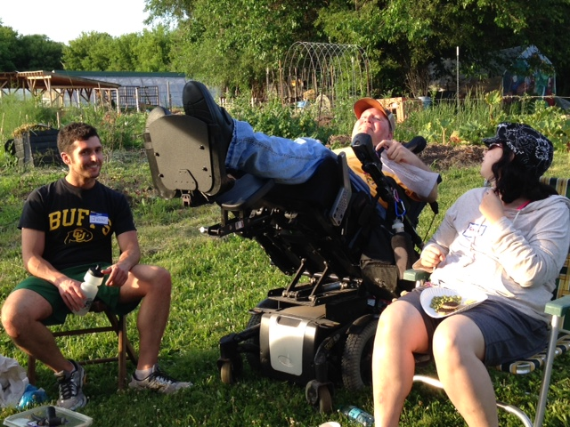 Jon, Steve, & Rebecca enjoying the moment